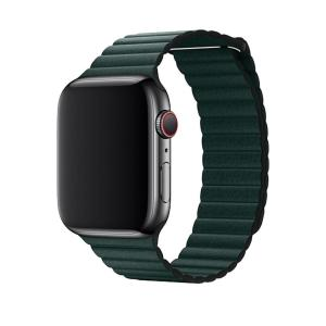 Devia Apple Watch Series 7 41mm Leather Loop Strap - Forest Green