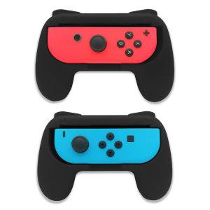 Olixar Nintendo Switch OLED Non-Slip Joy-Con Grips - 2 Pack -  Black