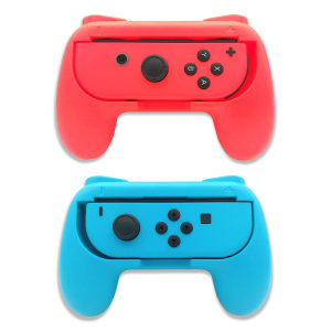Olixar Nintendo Switch OLED Non-Slip Joy-Con Grips- 2 Pack- Red & Blue