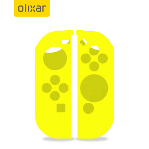 Olixar Silicone Switch OLED Joy-Con Controller Covers - 2 Pack- Yellow