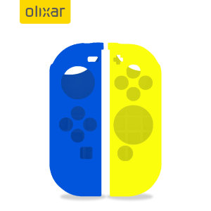 Olixar Silicone Switch OLED Joy-Con Controller Covers - Yellow/ Blue