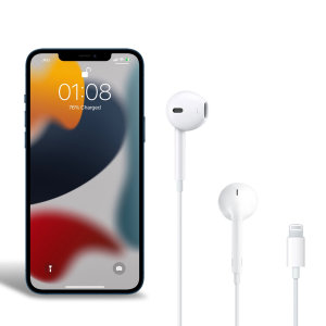Official Apple iPhone 13 mini Lightning Earphones - White