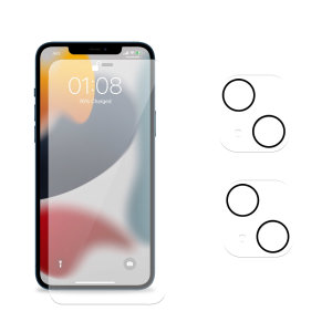 Olixar iPhone 13 Screen Protector & 2 Pack Camera Protectors