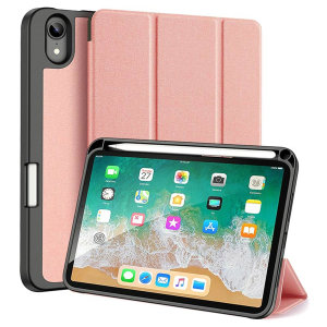 Dux Ducis Domo iPad Mini 6 Stand Case With Apple Pencil Holder - Pink