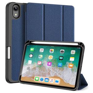 Dux Ducis Domo iPad Mini 6 Stand Case With Apple Pencil Holder - Blue