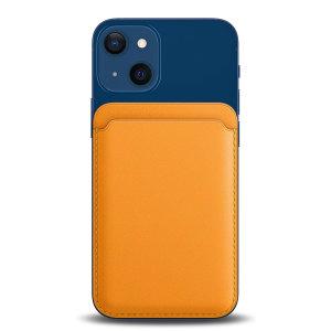 Olixar MagSafe Compatible Card Wallet for iPhone 13 Series - Orange
