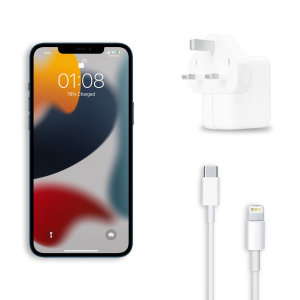 Official Apple 30W iPhone 13 Fast Charger & 1m Cable Bundle