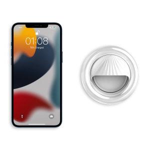 Olixar iPhone 13 mini Clip-On Selfie Ring LED Light - White