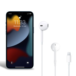 Official Apple iPhone 13 Pro Max Lightning Earphones - White
