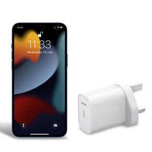 Olixar iPhone 13 Pro 20W Single USB-C Wall Charger - UK Plug - White