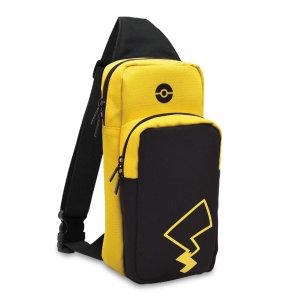 Hori Nintendo Switch Pikachu Edition Travel Bag - Black/Yellow