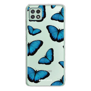 LoveCases Samsung Galaxy A22 5G Gel Case - Blue Butterfly