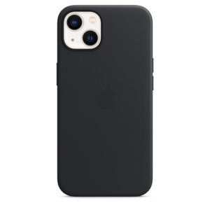 Official Apple iPhone 13 Genuine Leather Case With MagSafe - Midnight