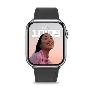 Olixar Genuine Leather Apple Watch 42mm Strap - Black