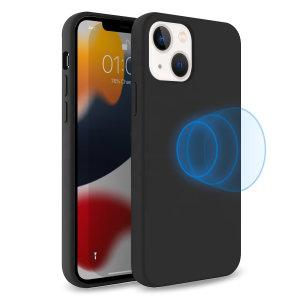 Olixar MagSafe Compatible iPhone 13 Soft Silicone Case - Black