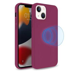 Olixar MagSafe Compatible iPhone 13 Soft Silicone Case - Purple