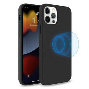 Olixar MagSafe Compatible iPhone 13 Pro Soft Silicone Case - Black