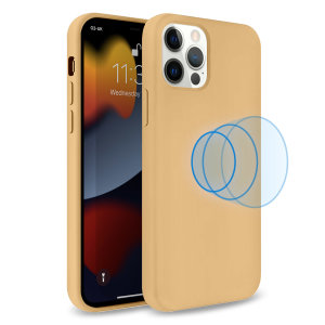 Olixar MagSafe Compatible iPhone 13 Pro Soft Silicone Case - Melon