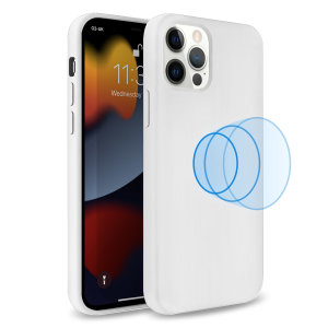 Olixar MagSafe Compatible iPhone 13 Pro Soft Silicone Case - White