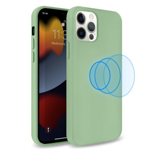 Olixar MagSafe Compatible iPhone 13 Pro Soft Silicone Case - Green