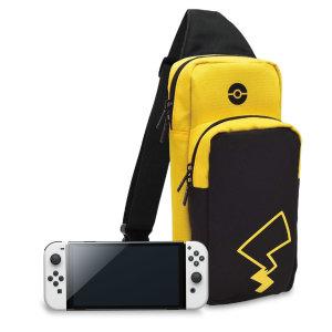 Hori Nintendo Switch OLED Pikachu Edition Travel Bag - Black/Yellow