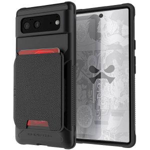 Ghostek Exec 4 Google Pixel 6 Genuine Leather Wallet Case - Black