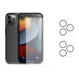 Olixar iPhone 13 Pro Max Tough Case, Screen & Camera Protector Pack