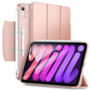 ESR Ascend Trifold iPad mini 6 Leather-Style Case - Rose Gold