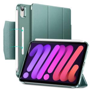 ESR Ascend Trifold iPad mini 6 Leather-Style Case - Dark Green