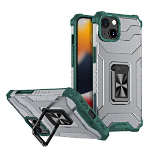 Olixar Magnetic iPhone 13 Ring Stand Case - Green