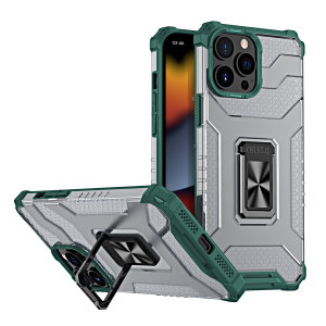 Olixar Magnetic iPhone 13 Pro Ring Stand Case - Green