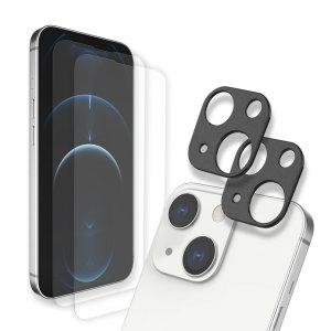 Whitestone Dome iPhone 13 Screen & Camera Protector - 2 Pack
