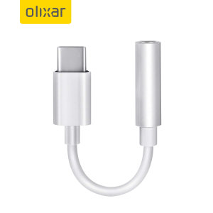 Olixar iPad mini 6 2021 6th Gen. USB-C To 3.5mm Adapter - White