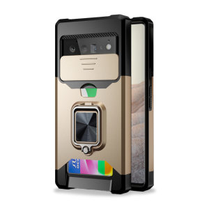Olixar Google Pixel 6 Pro Stand Case With Camera Privacy Cover - Gold