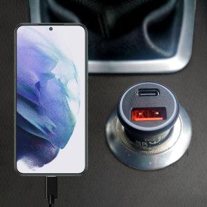 Olixar Samsung Galaxy S22 36W Dual Car Charger & 1.5m USB-C Cable