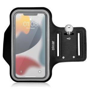 Olixar iPhone 13 Running & Fitness Armband Holder - Black