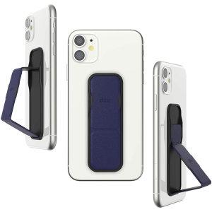 Clckr Universal Studio Smartphone PU Leather Grip & Kickstand - Navy