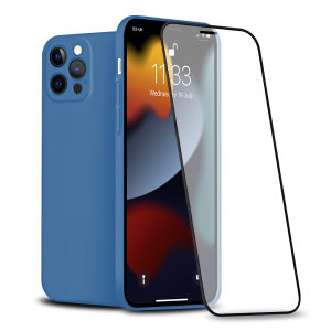 Olixar iPhone 13 Pro Max Front & Back Full Cover Protective Case- Blue