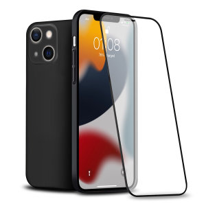 Olixar iPhone 13 Front & Back Full Cover Protective Case - Black