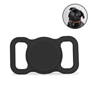 Olixar Apple AirTag Protective Clip On Dog Collar Case - Black