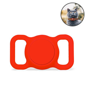 Olixar Apple AirTag Protective Clip On Cat Collar Case - Red