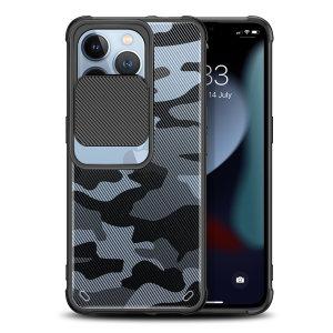 Olixar iPhone 13 Pro Sliding Camera Privacy Cover Case - Camo Black