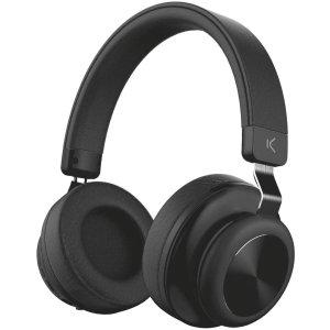 Ksix Retro Wireless On-Ear Cushioned Headphones - Black