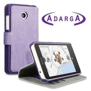 Adarga Nokia Lumia 630 / 635 Leather-Style Wallet Case - Purple