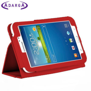 Adarga Samsung Galaxy Tab 3 8.0 Stand and Type Case - Red