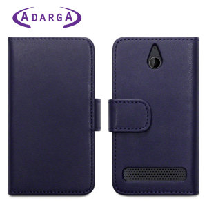 Adarga Sony Xperia E1 Leather-Style Wallet Case - Purple