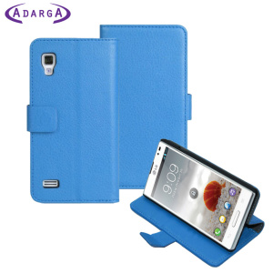 Adarga Stand and Type LG Optimus L9 Wallet Case - Blue