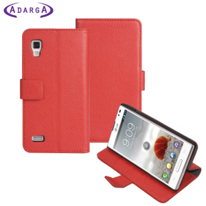 Adarga Stand and Type LG Optimus L9 Wallet Case - Red