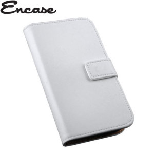 Adarga Stand and Type Wiko Bloom Wallet Case - White