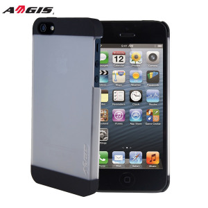 Aegis Rubber Hard Shell iPhone 5S / 5 Case - Clear and Black